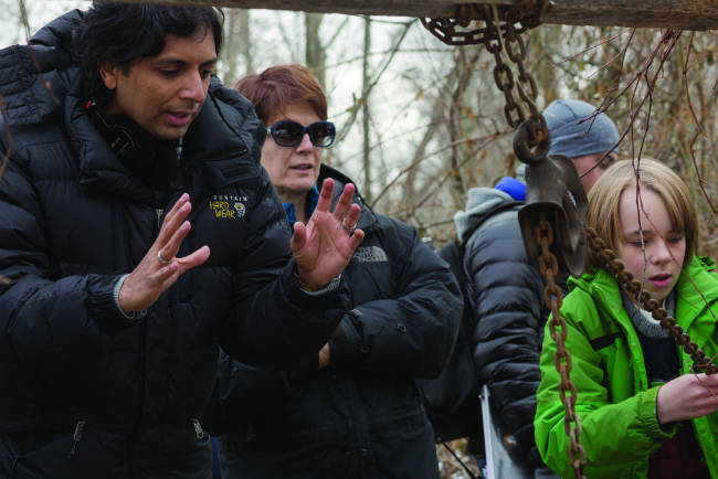 M. Night Shyamalan on set of the visit