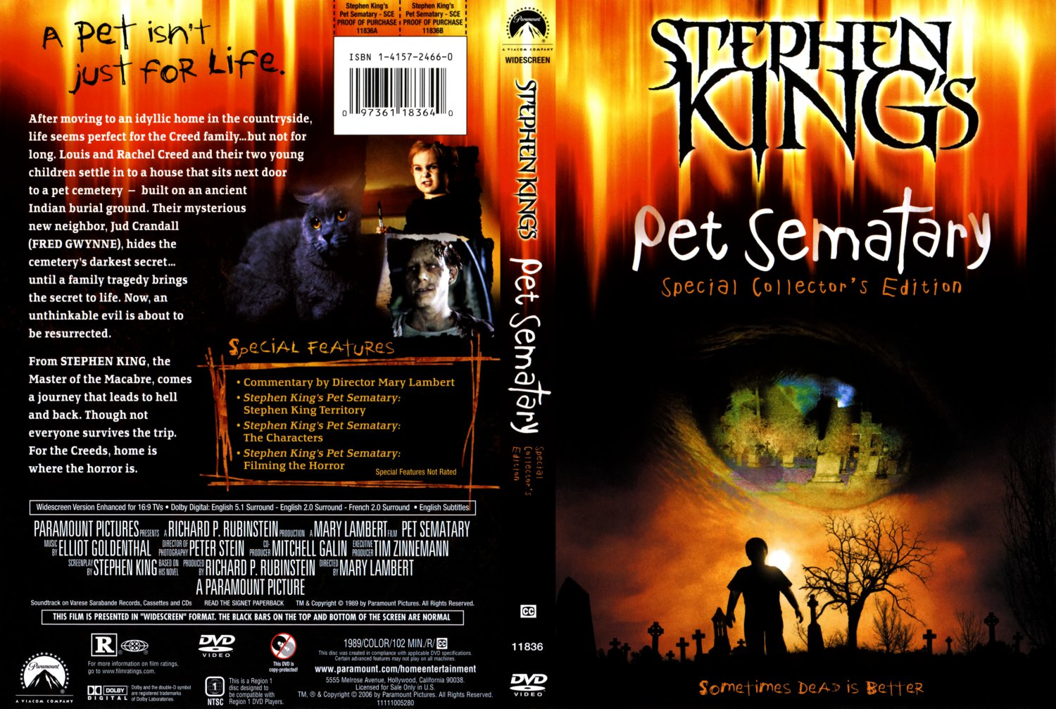 pet sematary special collectors edition dvd