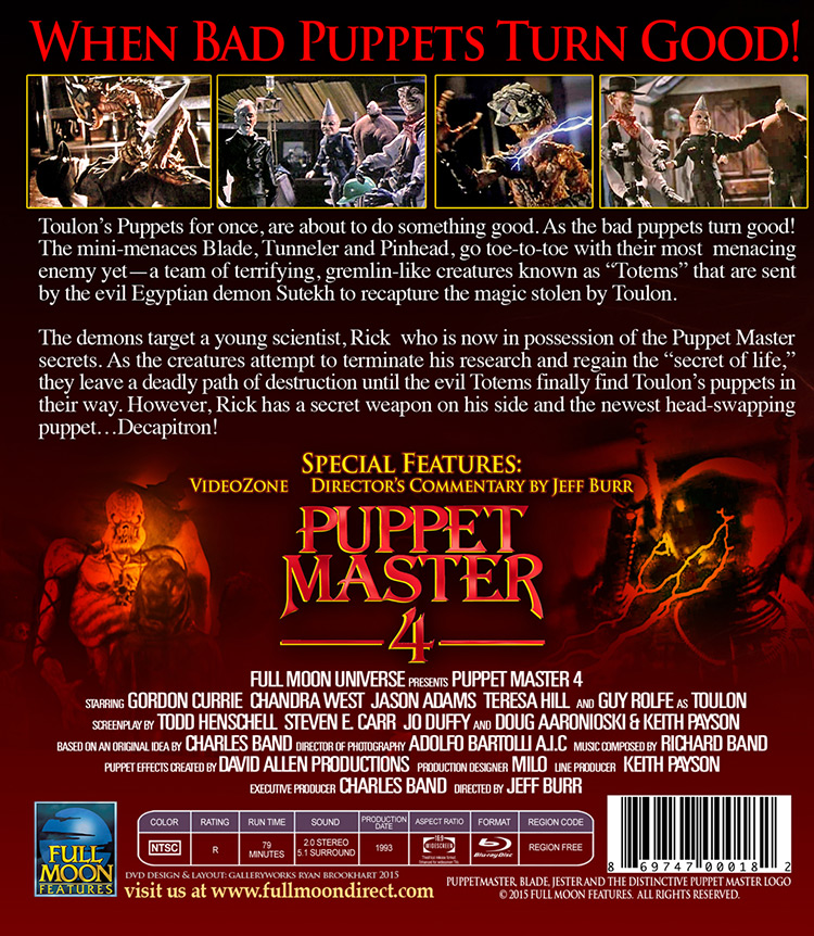 puppet master 4 bluray back