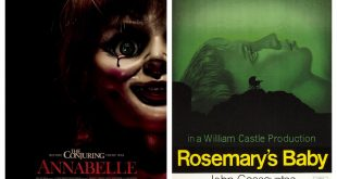 Movie posters from Annabelle and Rosemary's Baby